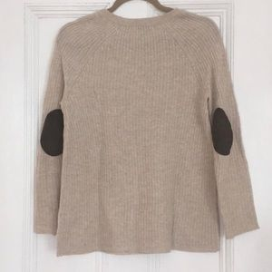 Gray Elbow Patch Sweater